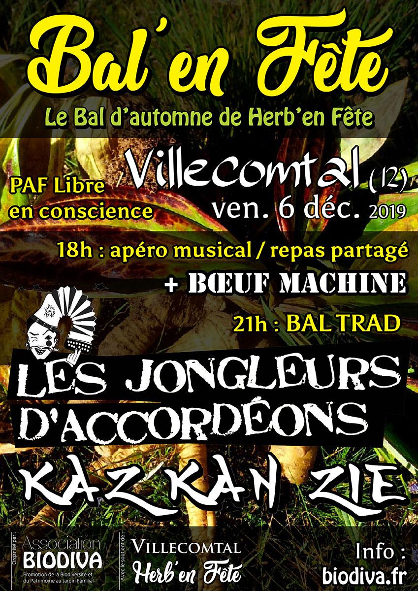 Bal'en Fête - vendredi 6 décembre à Villecomtal